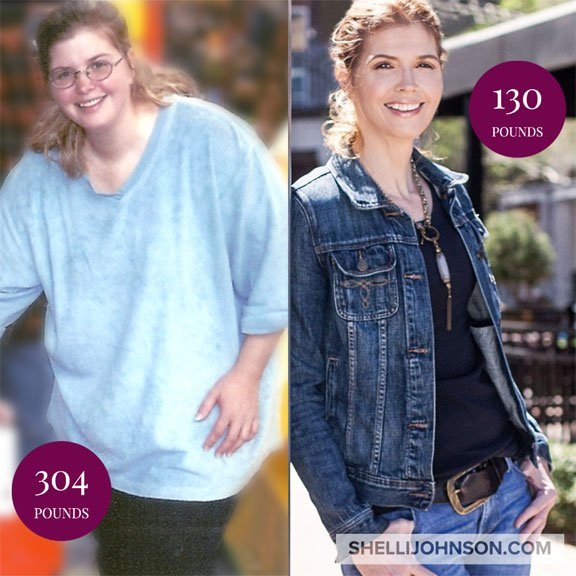 start where you are weight loss shelli johnson Before and after weight loss success story